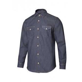CAMISA DENIM STRETCH MANGA LARGA HOMBRE 405006S VELILLA