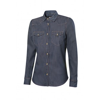 CAMISA DENIM STRETCH MANGA LARGA MUJER 405007S VELILLA