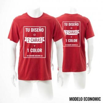 CAMISETA MODELO ECONOMIC PERSONALIZADA A 1 CARA Y 1 COLOR